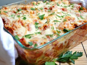 Baked Noodles and Cottage Cheese Casserole