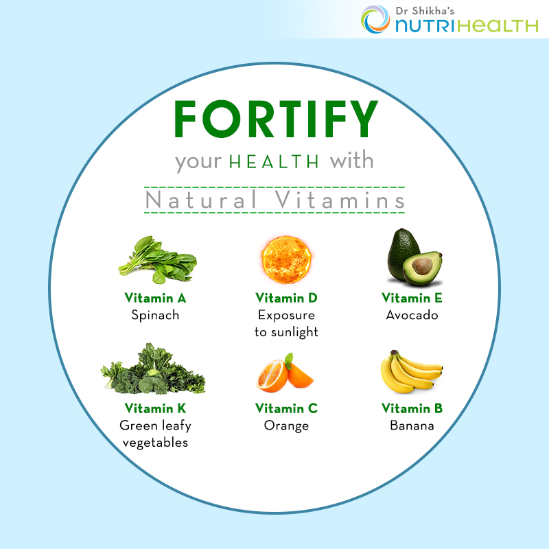 Fortify your health with Natural vitamins